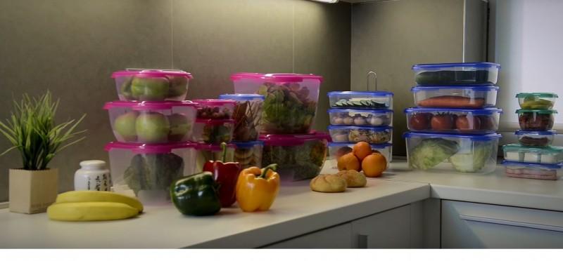 Poza ansamblu cutii alimente plastic FRIGO