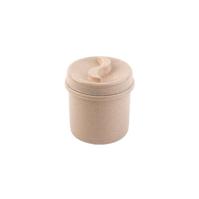 Cutie condimente rotunda 8 cm crem