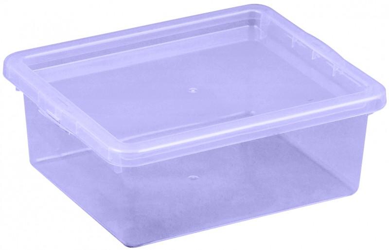 Cutie depozitare cu capac, capacitate 1.5 litri, dimensiuni: 205x170x74 mm mov