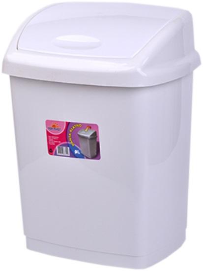 Cos gunoi 4 litri 24x18x18 cm alb