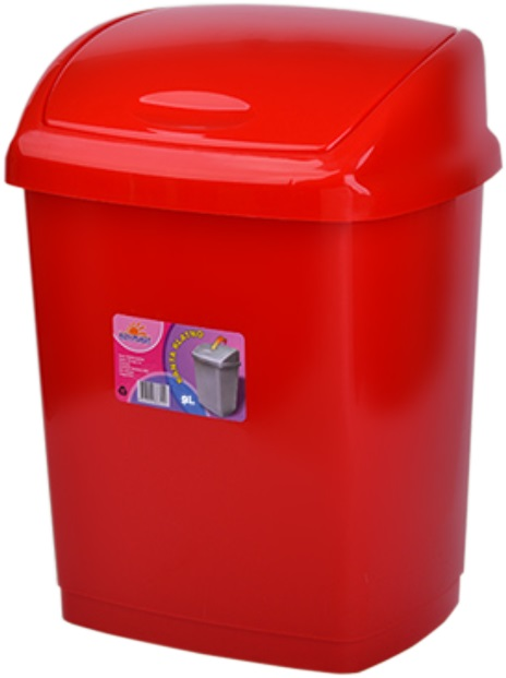 Cos gunoi 4 litri 24x18x18 cm rosu