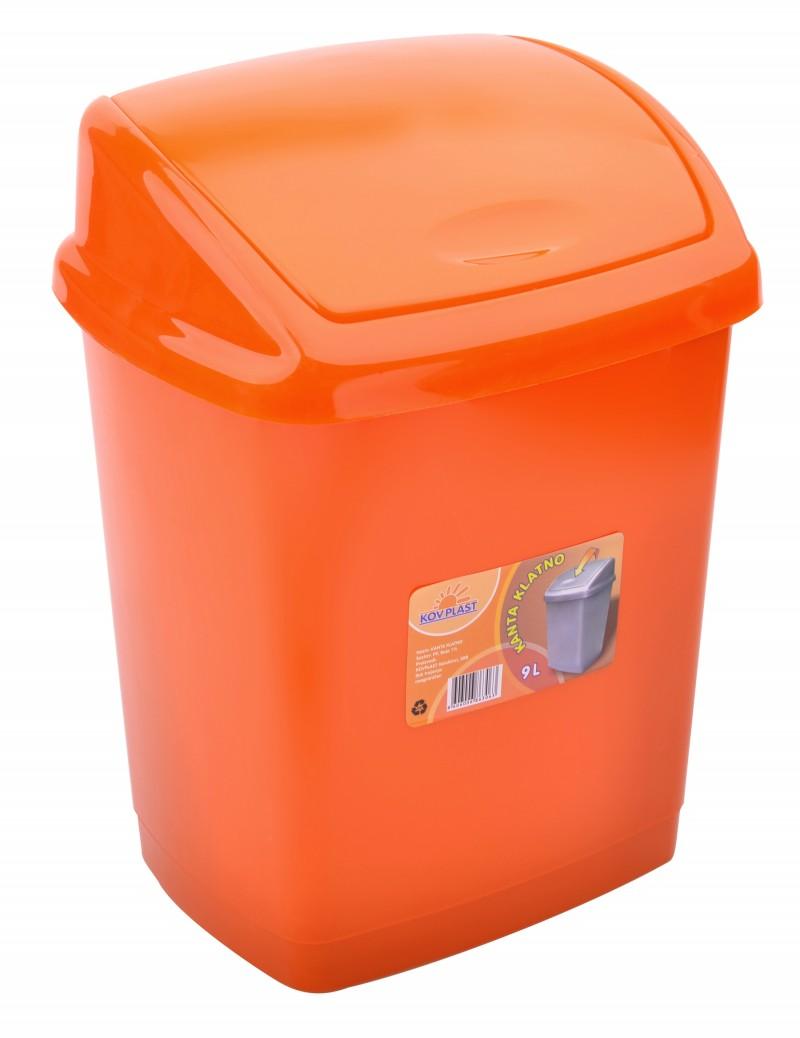 Cos gunoi 4 litri 24x18x18 cm portocaliu