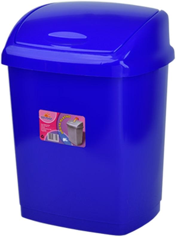 Cos gunoi 4 litri 24x18x18 cm albastru