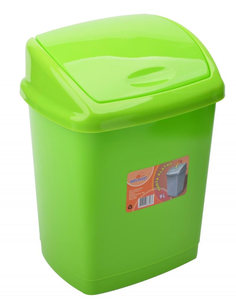 Cos gunoi 4 litri 24x18x18 cm verde