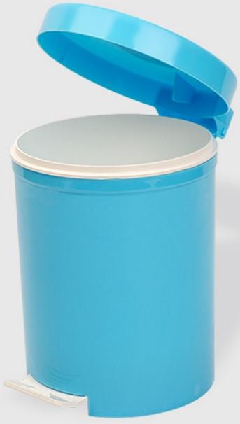 Cos gunoi cu pedala 5 litri albastru deschis