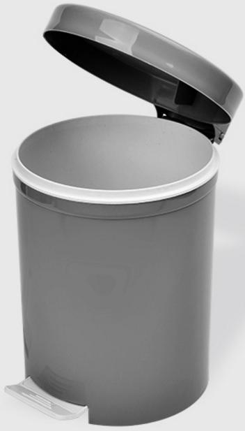 Cos gunoi cu pedala 5 litri negru