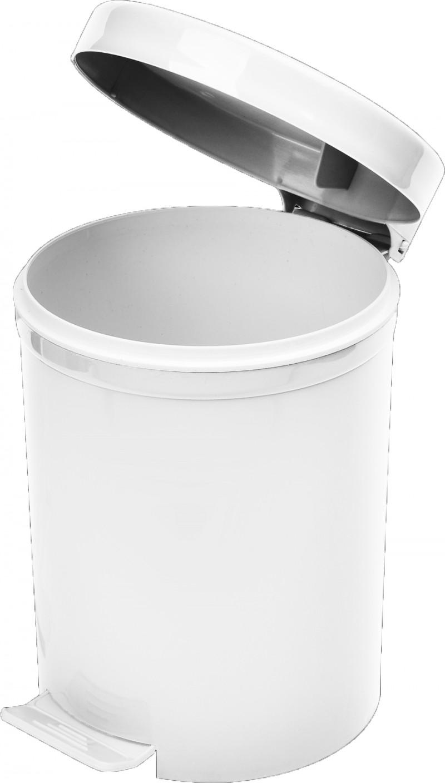 Cos gunoi cu pedala 5 litri alb