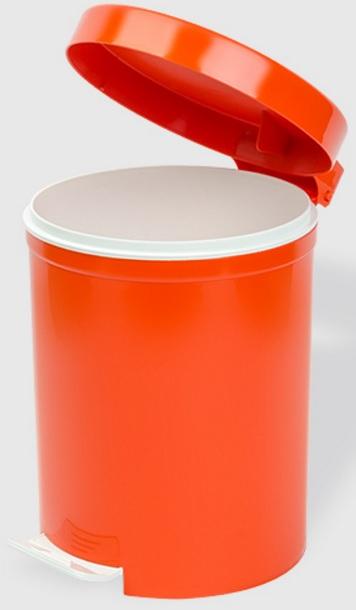 Cos gunoi cu pedala 5 litri portocaliu / orange