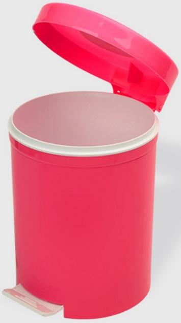 Cos gunoi cu pedala 5 litri roz