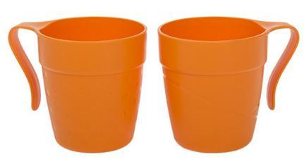 Cana cu maner TWINS 330 ml portocaliu