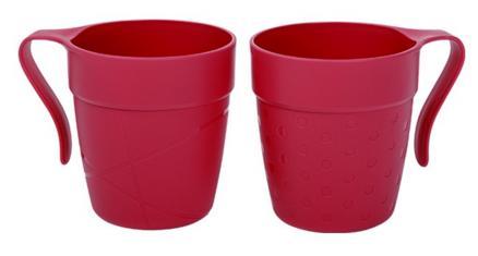 Cana cu maner TWINS 330 ml rosu