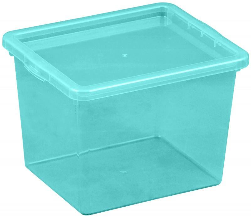 Cutie depozitare 3 litri, dimensiuni 205x170x142.7 mm albastru deschis