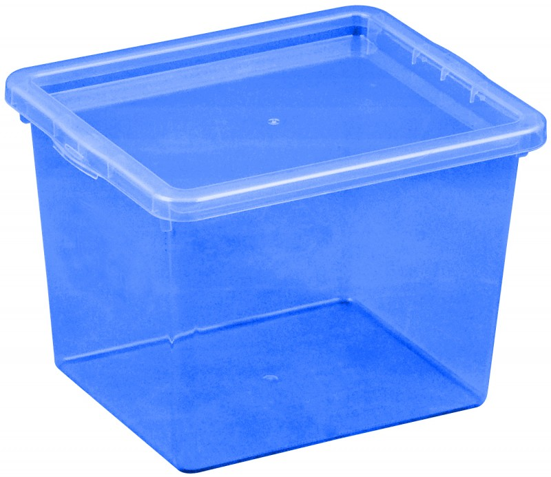 Cutie depozitare 3 litri, dimensiuni 205x170x142.7 mm albastru inchis
