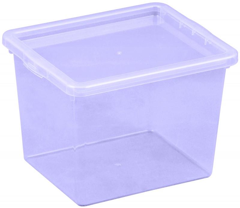 Cutie depozitare 3 litri, dimensiuni 205x170x142.7 mm mov