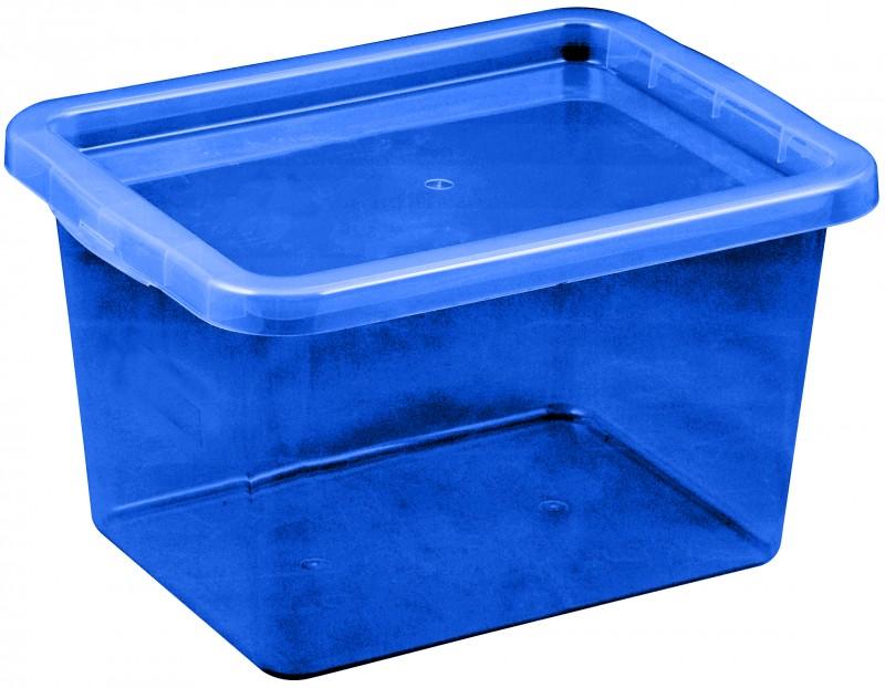 Cutie depozitare cu capac, capacitate 13 litri, dimensiuni 380x285x215.5 mm albastru inchis