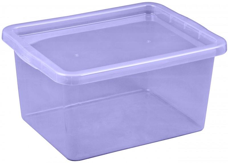 Cutie depozitare cu capac, capacitate 18 litri, dimensiuni 430x330x213.5 mm mov