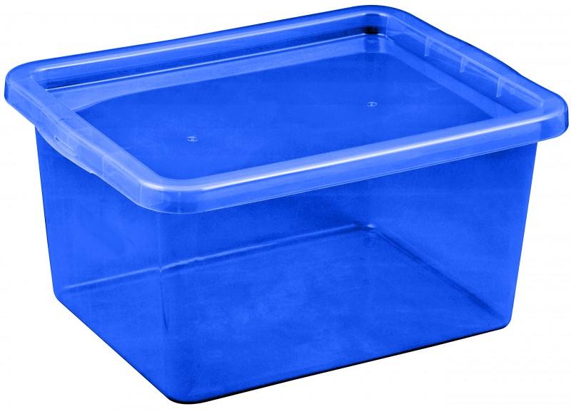 Cutie depozitare cu capac, capacitate 18 litri, dimensiuni 430x330x213.5 mm albastru inchis