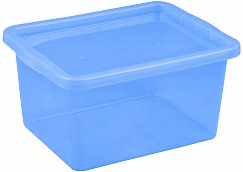 Cutie depozitare cu capac 48 l albastru inchis