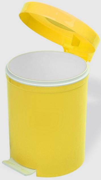 Cos gunoi cu pedala 5 litri galben
