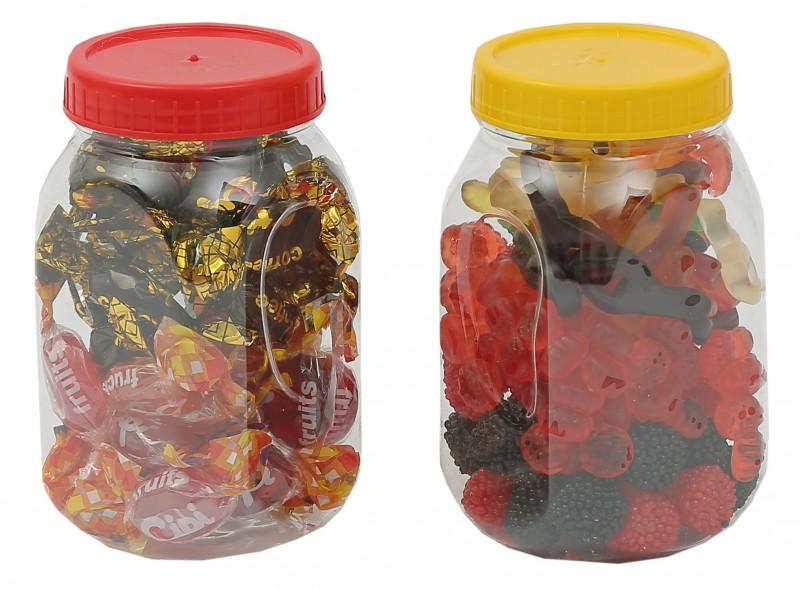 Borcan plastic cu capac 500 ml