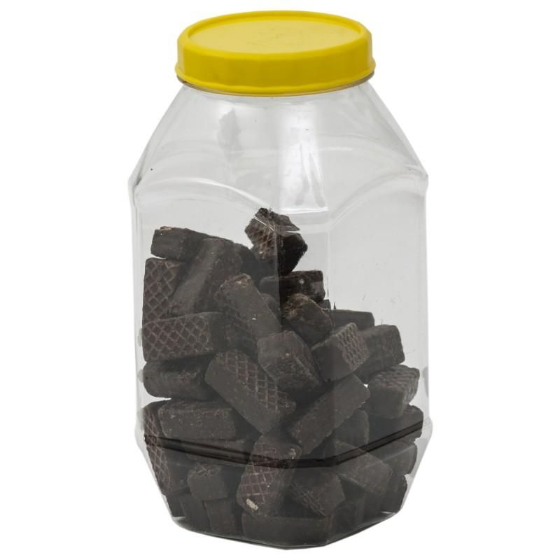 Borcan plastic cu capac 750 ml