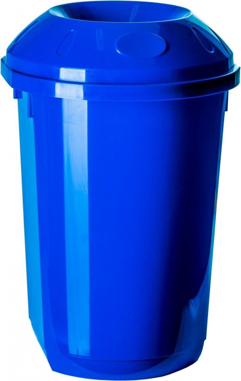 Cos gunoi colectare selectiva 40 litri rotund albastru