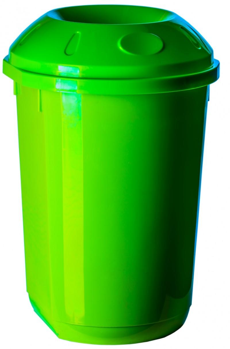 Cos gunoi colectare selectiva 40 litri rotund verde