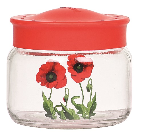Borcan cu capac 400 ml model floral Poppy
