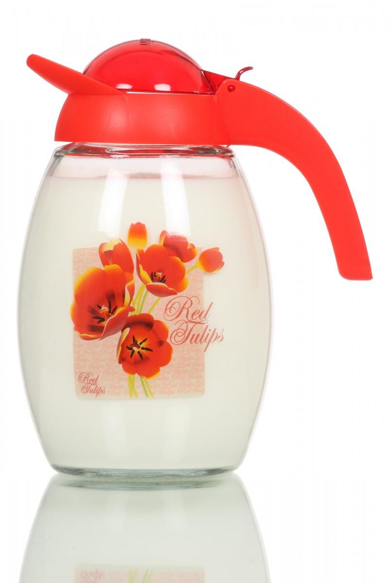 Carafa pentru suc imprimata floral