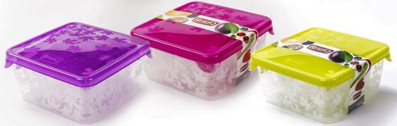 Set 3 cutii alimente Rukkola 0.45+0.75+1.25 litri