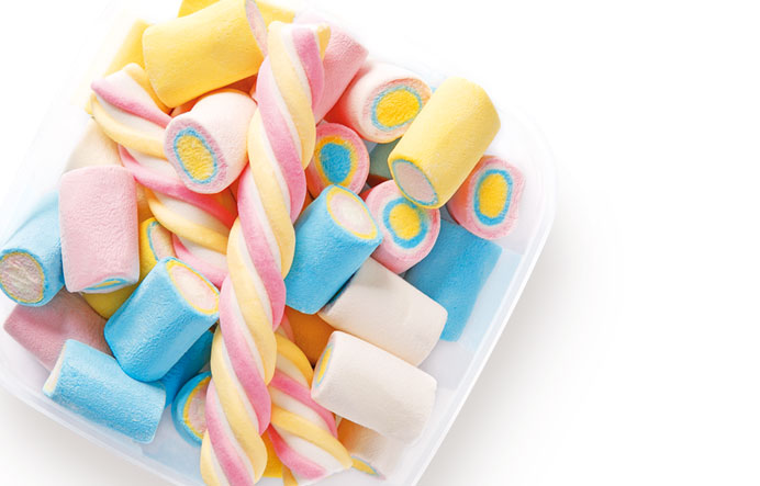 Cutie alimente patrata dulciuri