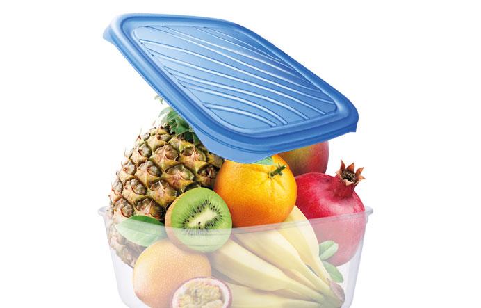 Set 3 cutii alimente dreptunghiulare 0.95/2/3 litri detaliu