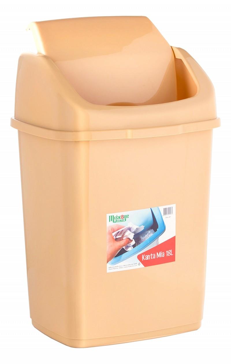 Cos gunoi cu capac batant 18 litri