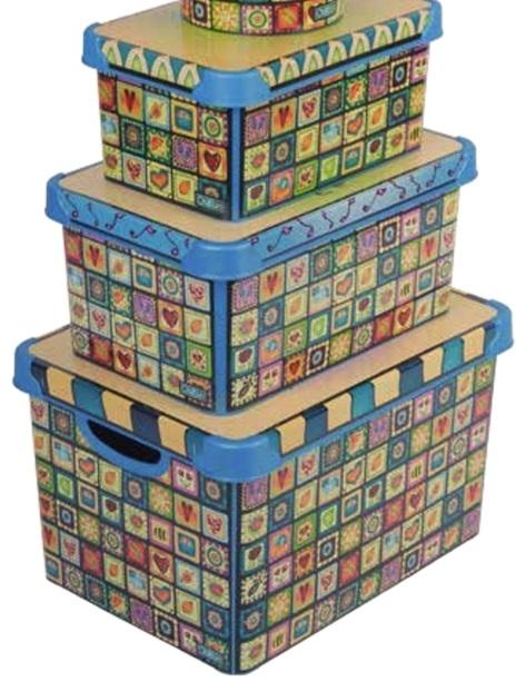 Set cutii decorate primavara