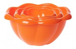 poza Set 3 boluri Hortensia 13, 20, 28 cm portocaliu