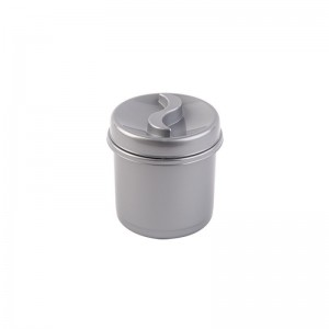 poza Cutie condimente rotunda 8 cm argintiu