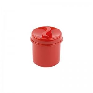 Poza Cutie condimente rotunda 8 cm rosu