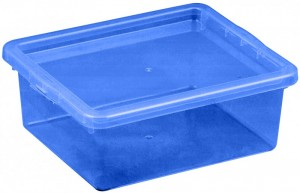 Poza Cutie depozitare cu capac, capacitate 1.5 litri, dimensiuni: 205x170x74 mm albastru inchis