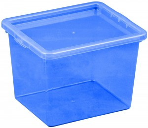 poza Cutie depozitare cu capac 3 litri albastru inchis