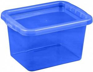 poza Cutie depozitare cu capac 8 litri albastru inchis