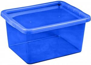 poza Cutie depozitare cu capac 18 litri albastru inchis