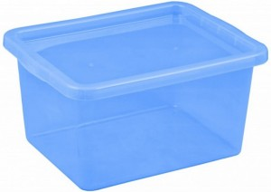 poza Cutie depozitare cu capac 48 litri albastru inchis