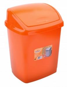 Poza Cos gunoi 4 litri 24x18x18 cm portocaliu