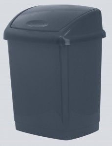 Poza Cos gunoi 4 litri 24x18x18 cm gri