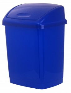 Poza Cos gunoi 4 litri 24x18x18 cm albastru