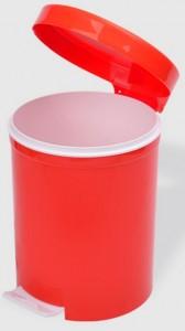 Poza Cos gunoi cu pedala 5 litri rosu