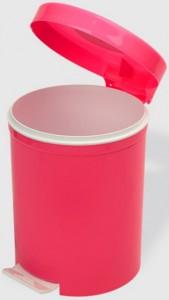 Poza Cos gunoi cu pedala 5 litri roz