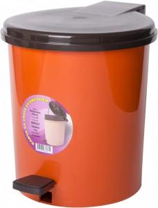 Poza Cos gunoi cu pedala 10 litri portocaliu