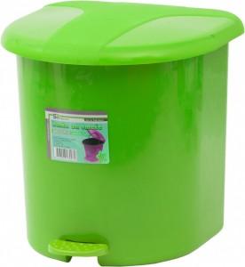 Poza Cos gunoi plastic cu pedala si galeata interioara roz 15 litri