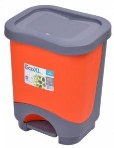 Poza Cos de gunoi EKO 8 l cu galeata si maner orange